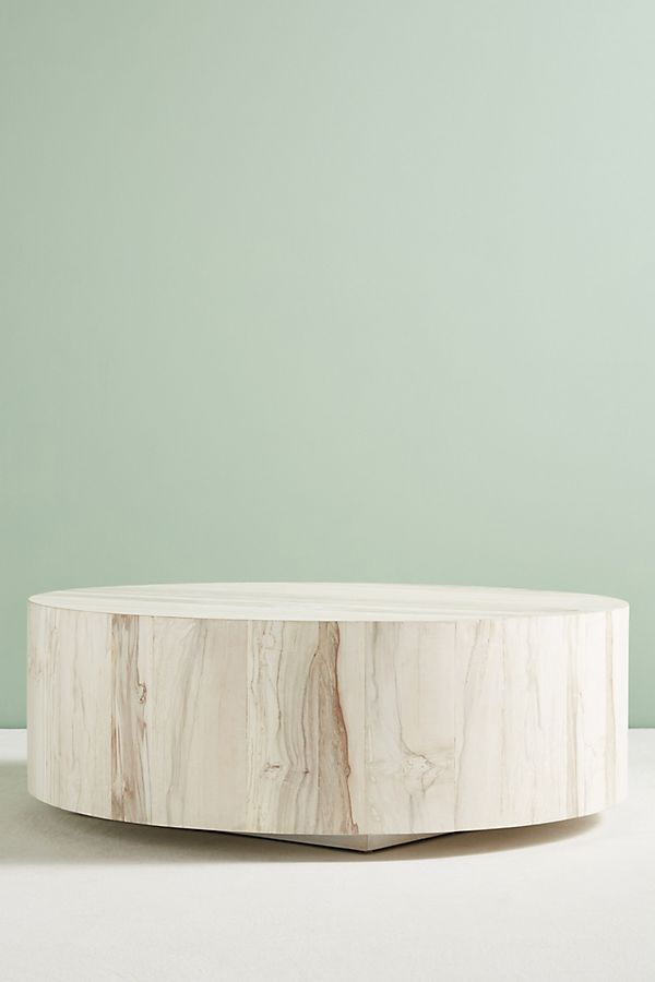 Swirled Drum Coffee Table /// Pre-Order: Expected to ship by Tue, August 31