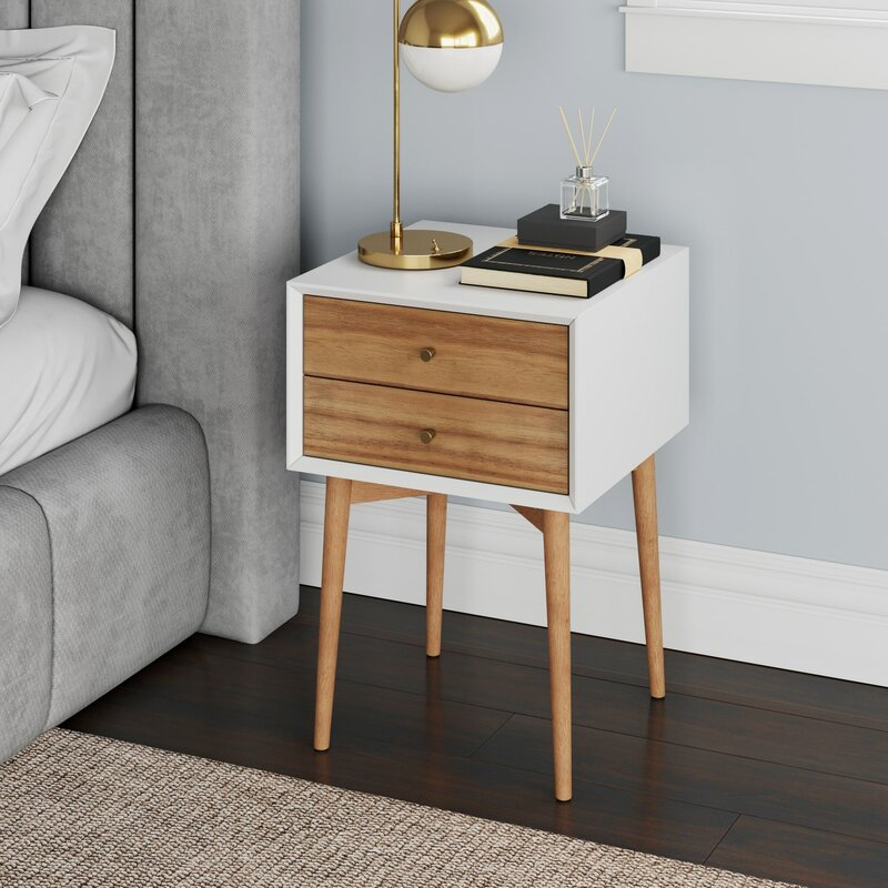 Gilligan 2 - Drawer Solid+Manufactured Wood Nightstand