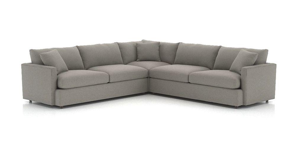 Lounge II Petite 3-Piece Sectional Sofa ( Sofa: Douglas, Charcoal )
