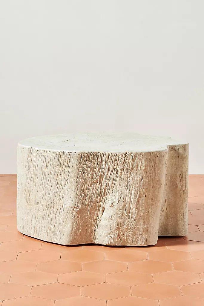 Live-Edge Concrete Indoor/Outdoor Coffee Table