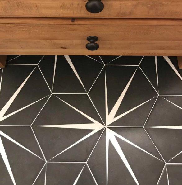 """Braley Hex 9"""" x 10"""" Porcelain Mosaic Tile"""
