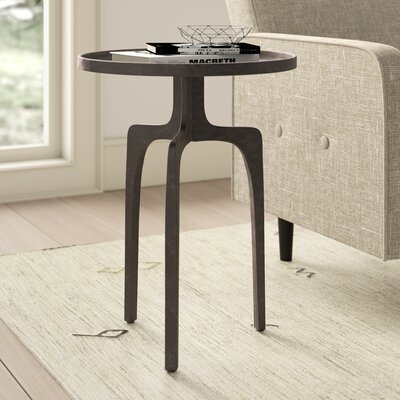 Natalie Tray Top Pedestal End Table