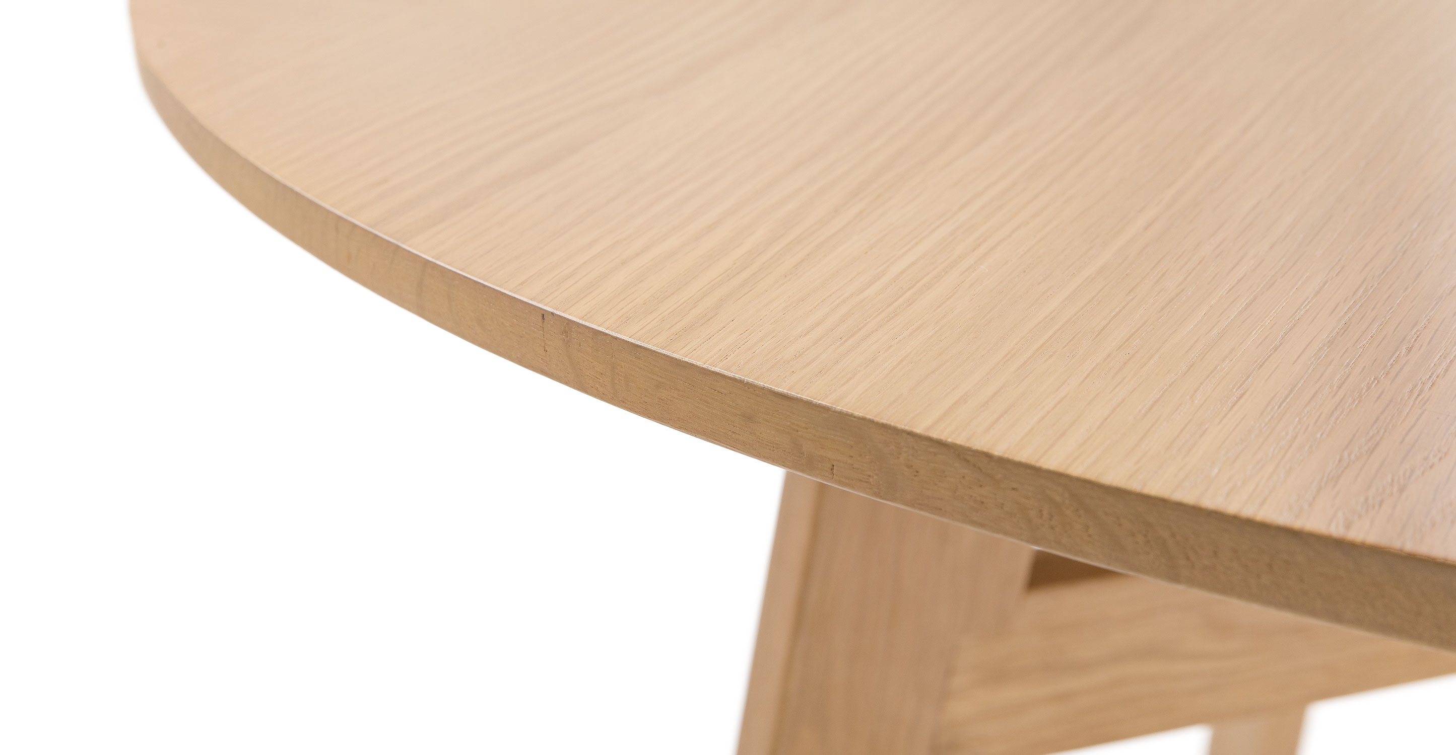 Ventu Light Oak Round Dining Table