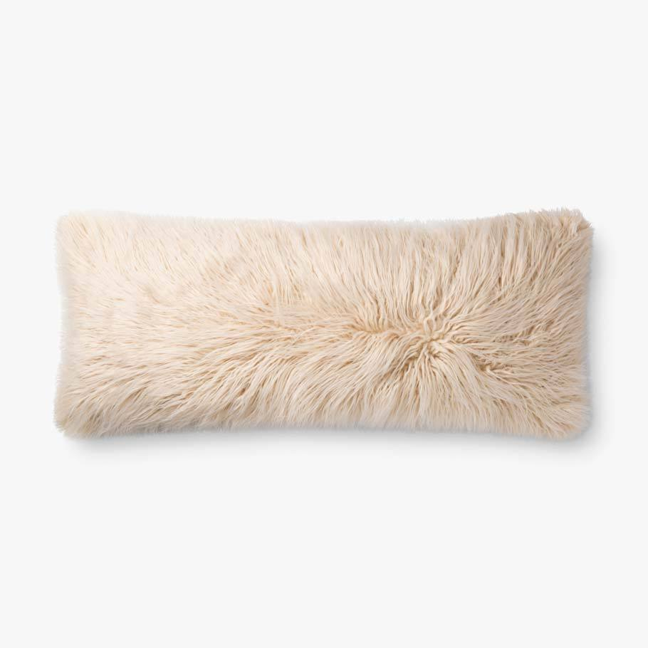 P0796 Multi / Ivory Lumbar Pillow -polly filled