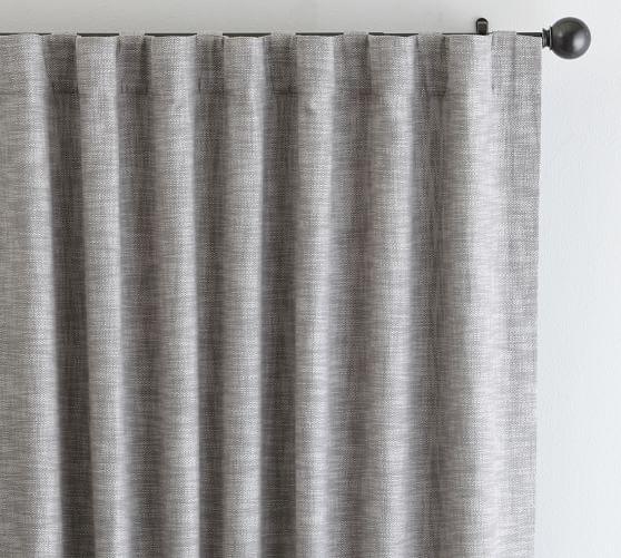 """Seaton Textured Drape, 50 x 84"""", Gray"""