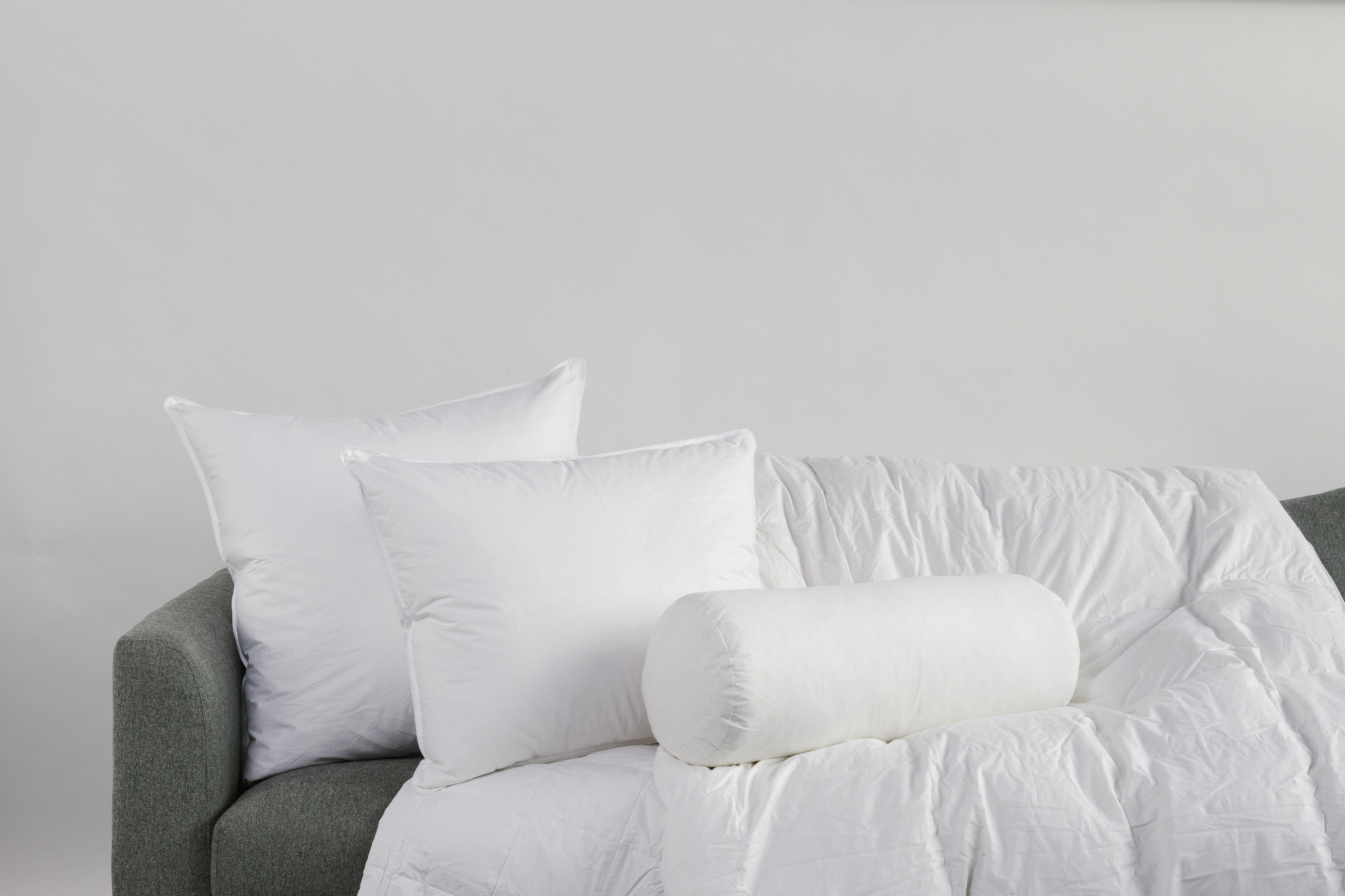 """24"""" x 24"""" White Duck Feather Decorative Pillow Insert"""
