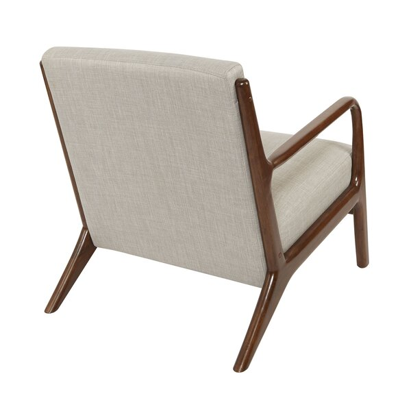 Blomkest Wood and Upholstered Mid Century Accent Chair