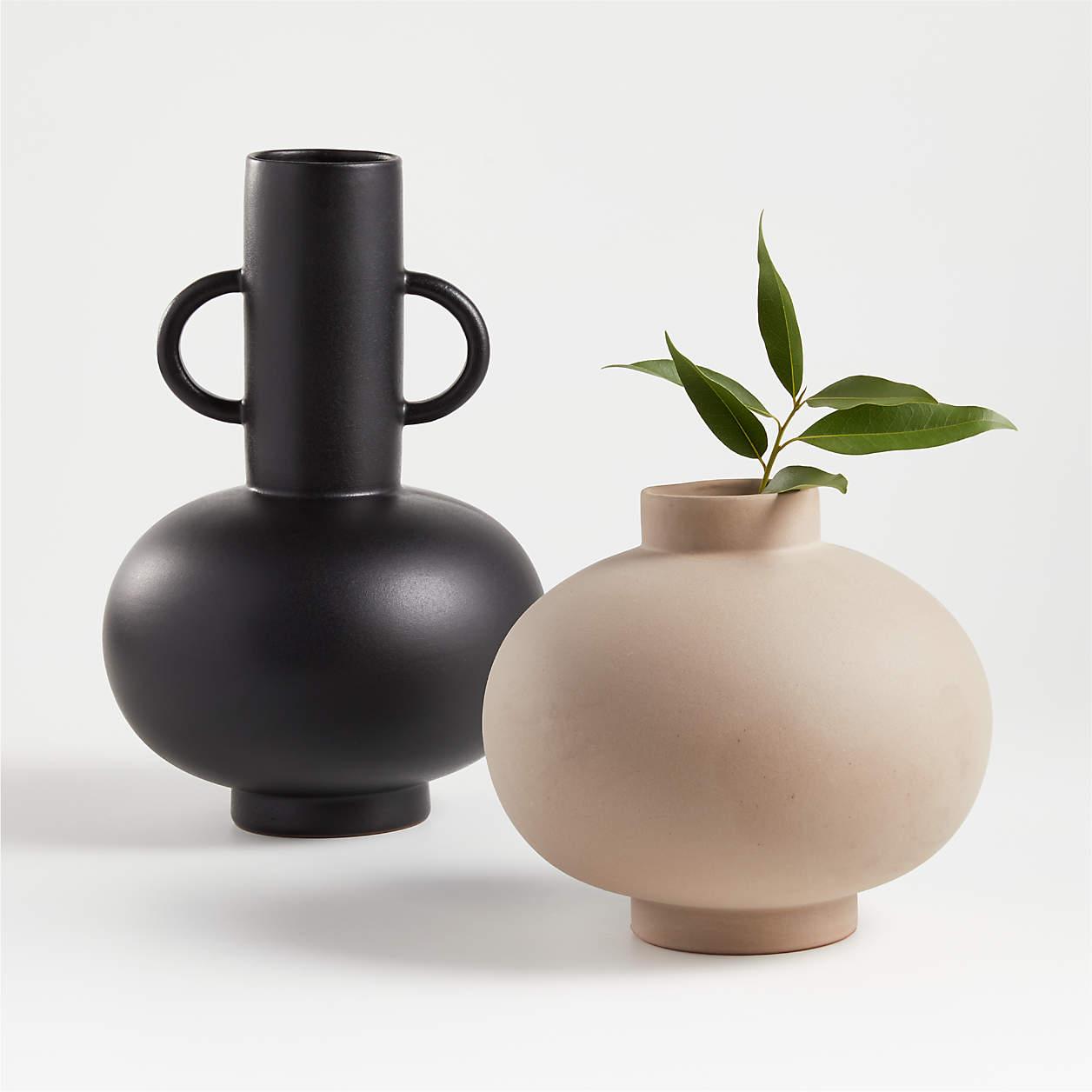 Full Moon Clay Vase