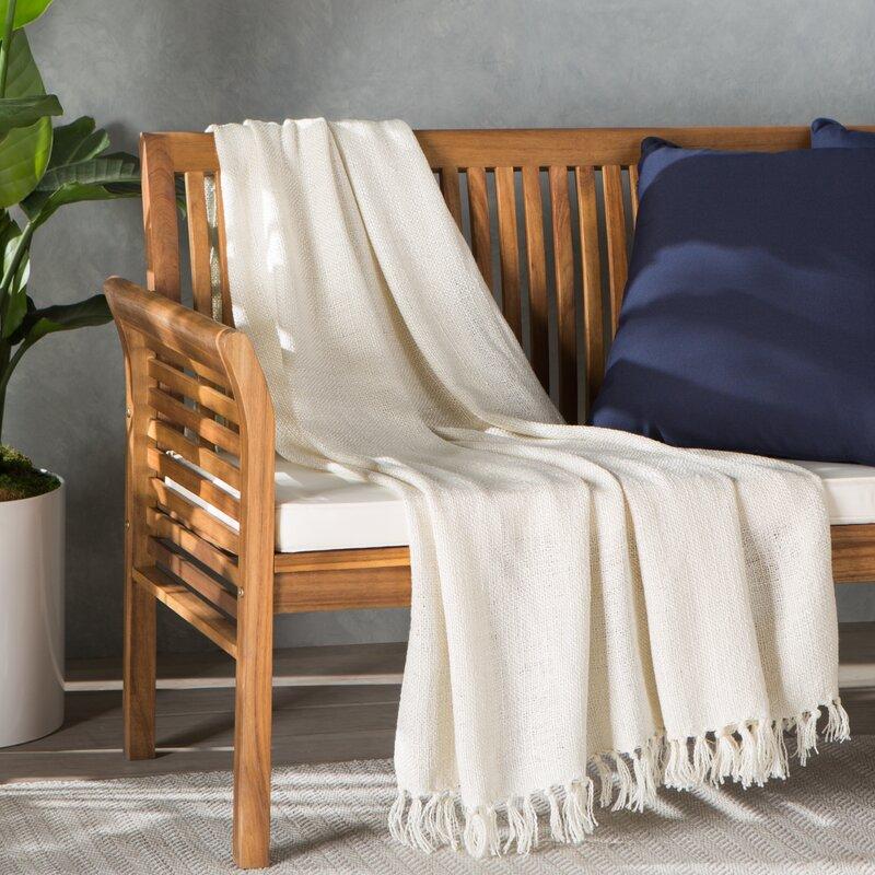 Bovina Throw Blanket - White