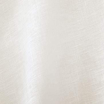 "Sheer Belgian Flax Linen Curtain, 48""x84"", Alabaster, Set of 2"