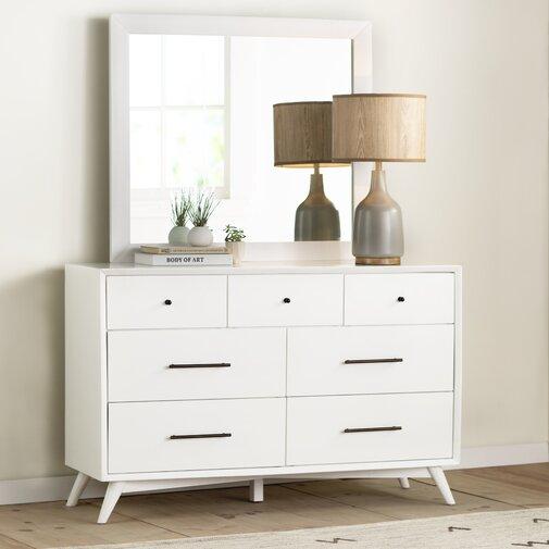Langley Street Parocela 7 Drawer Dresser in White