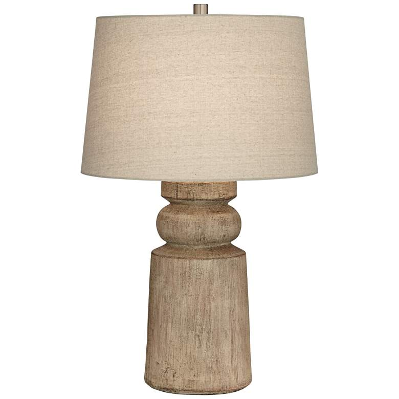 Totem Natural Faux Wood Table Lamp - Style # 66D53