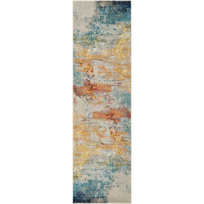 Owens Sealife Teal/Orange Area Rug