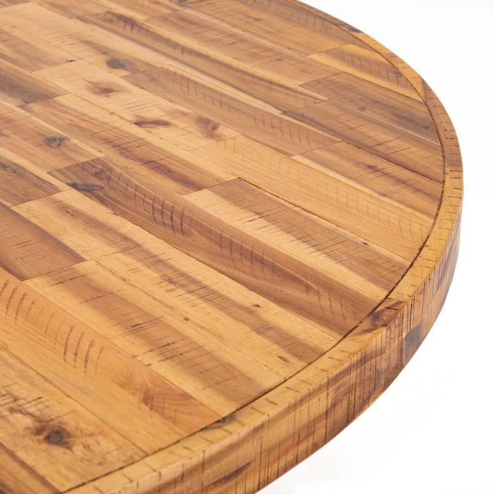 Alexa Round Dining Table, Honey