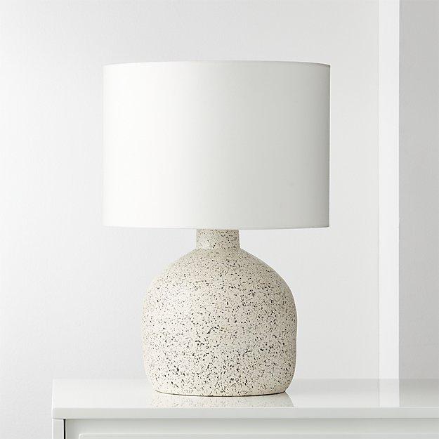 Largo Speckled White Ceramic Table Lamp