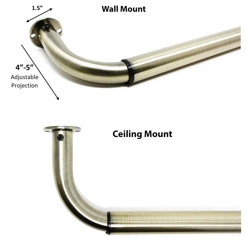 """Adjustable 1"""" Single Curtain Rod"""