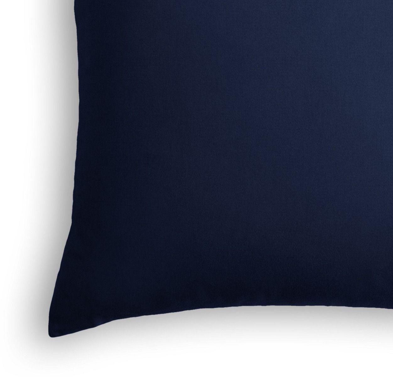 """Classic Velvet Pillow, Navy, 22"""" x 22"""" with insert"""