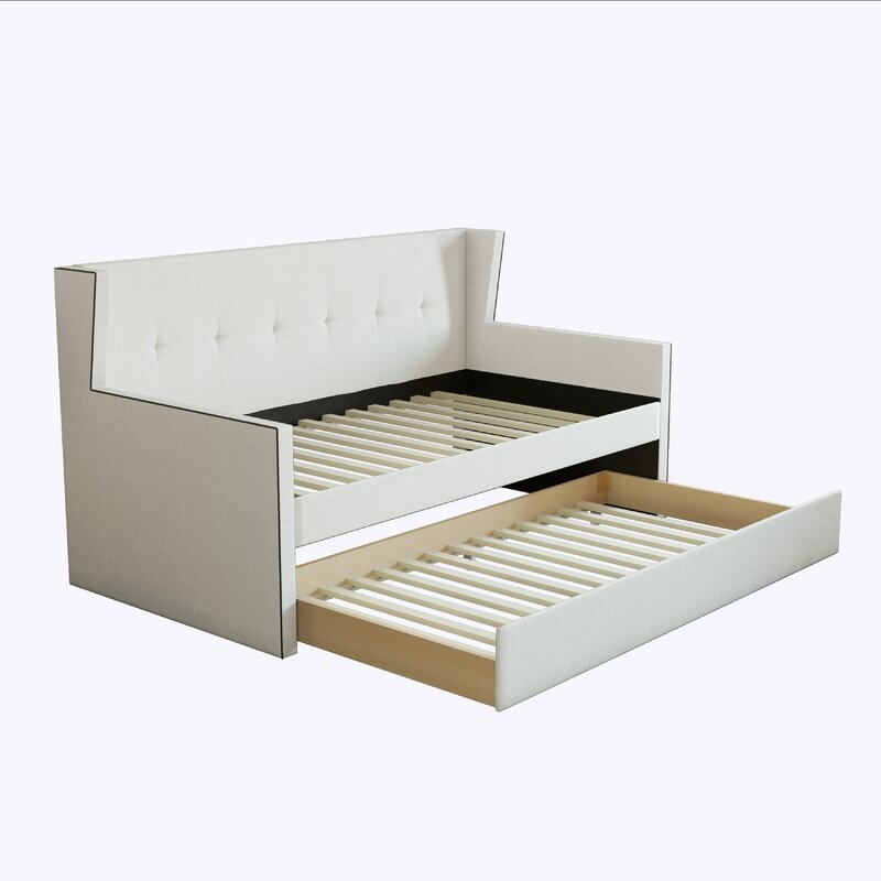 Calpurnia Cara Upholstered Twin Daybed with Trundle