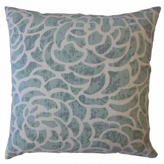 "Usra Floral Pillow Caribbean - 18""x18"" poly insert"