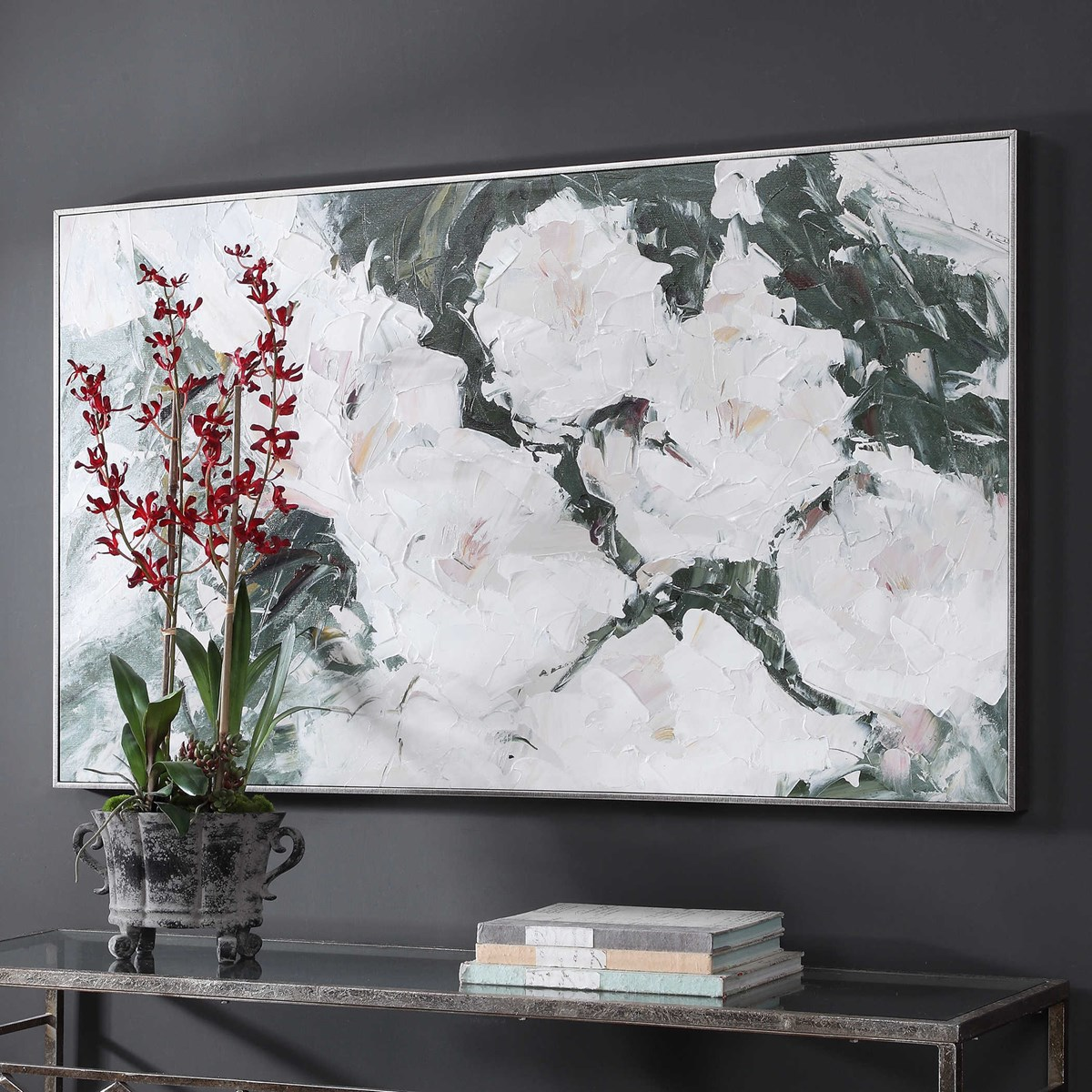SWEETBAY MAGNOLIAS HAND PAINTED CANVAS