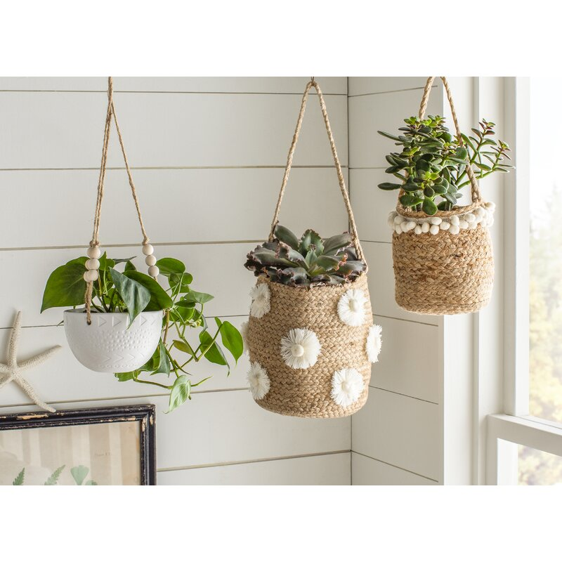 Veloz Ceramic Hanging Planter