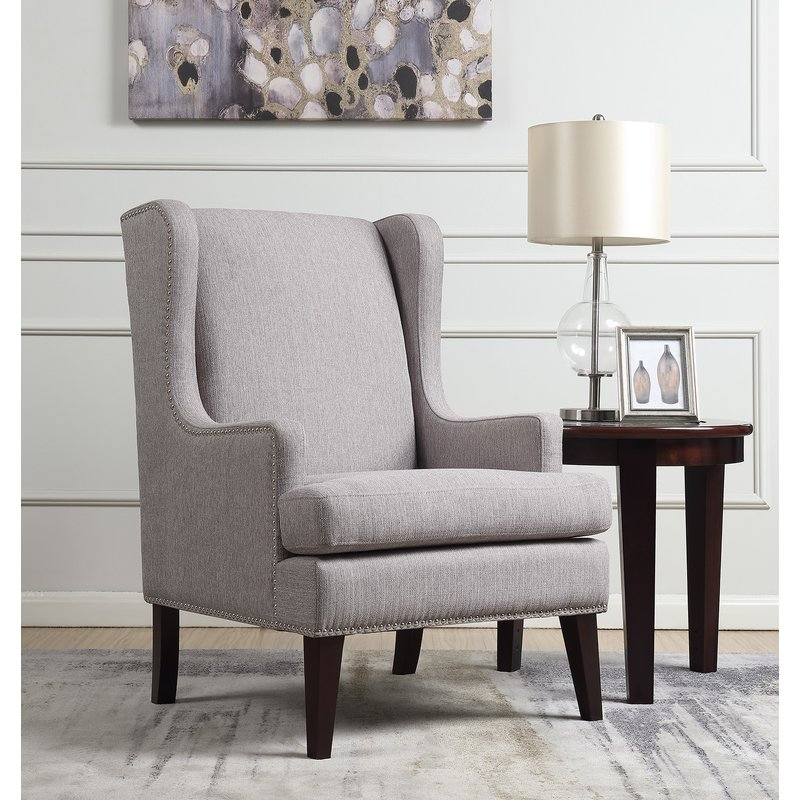 Barrett Wingback Chair / Gray