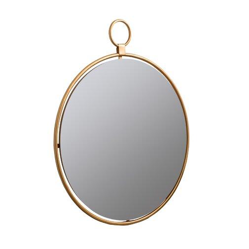 Matthias Round Modern & Contemporary Beveled Accent Mirror