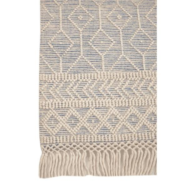 Home Decorators Collection WINCHESTER BEIGE/BLUE 6X9 WOOL AREA RUG, CREAM/BLACK