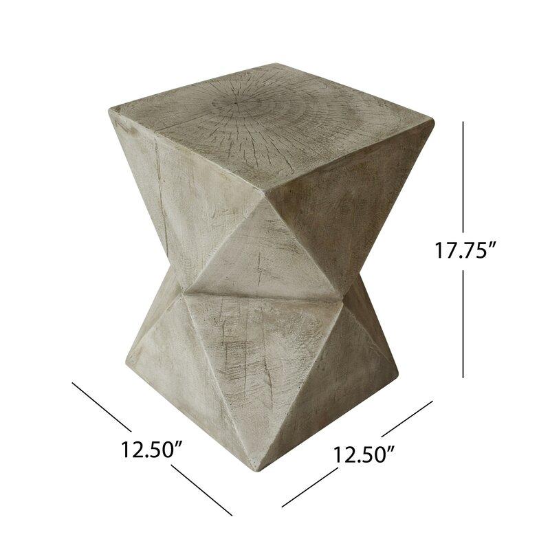 Encinal Block End Table