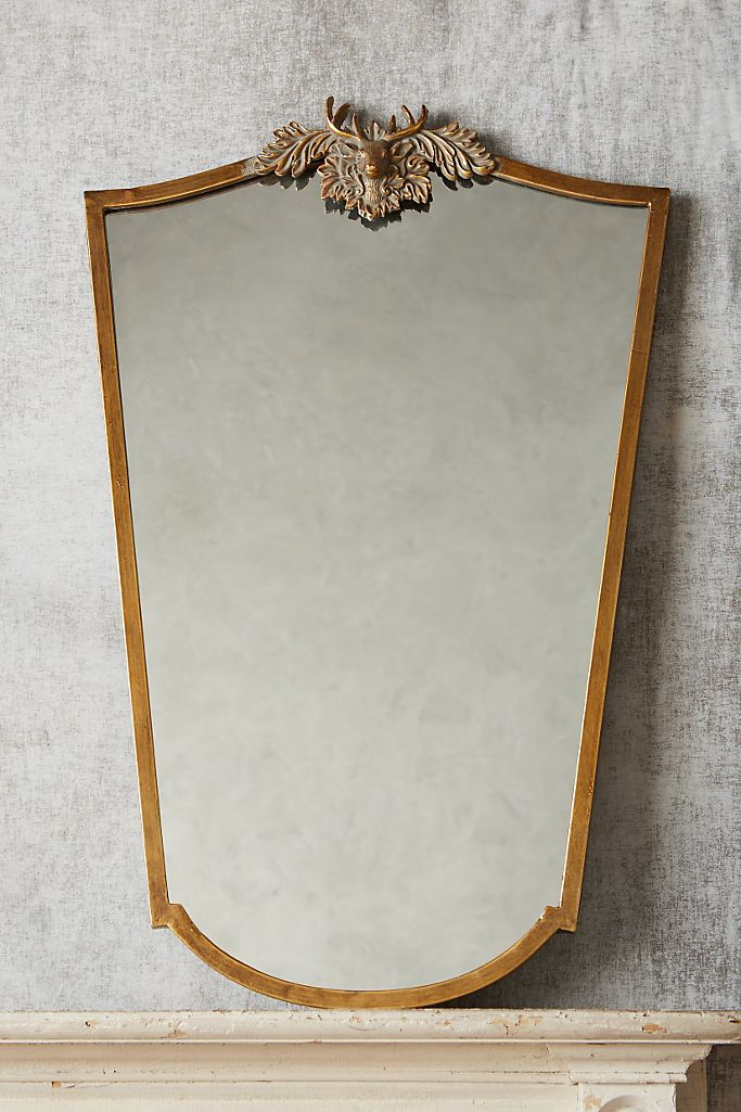 Wooded Manor Mirror - Deer