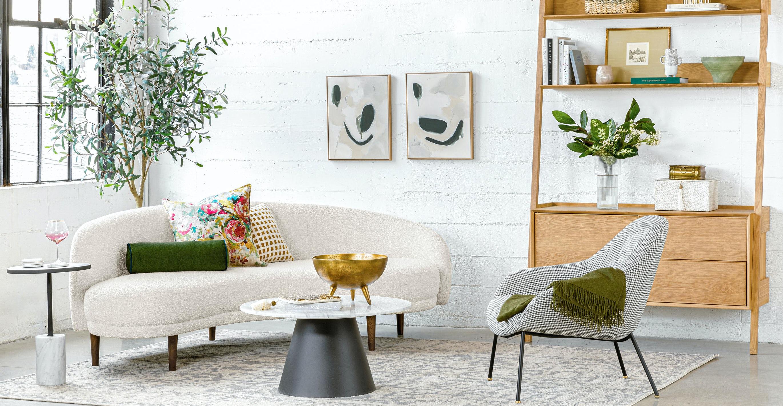 Kayra Ivory Boucle Sofa
