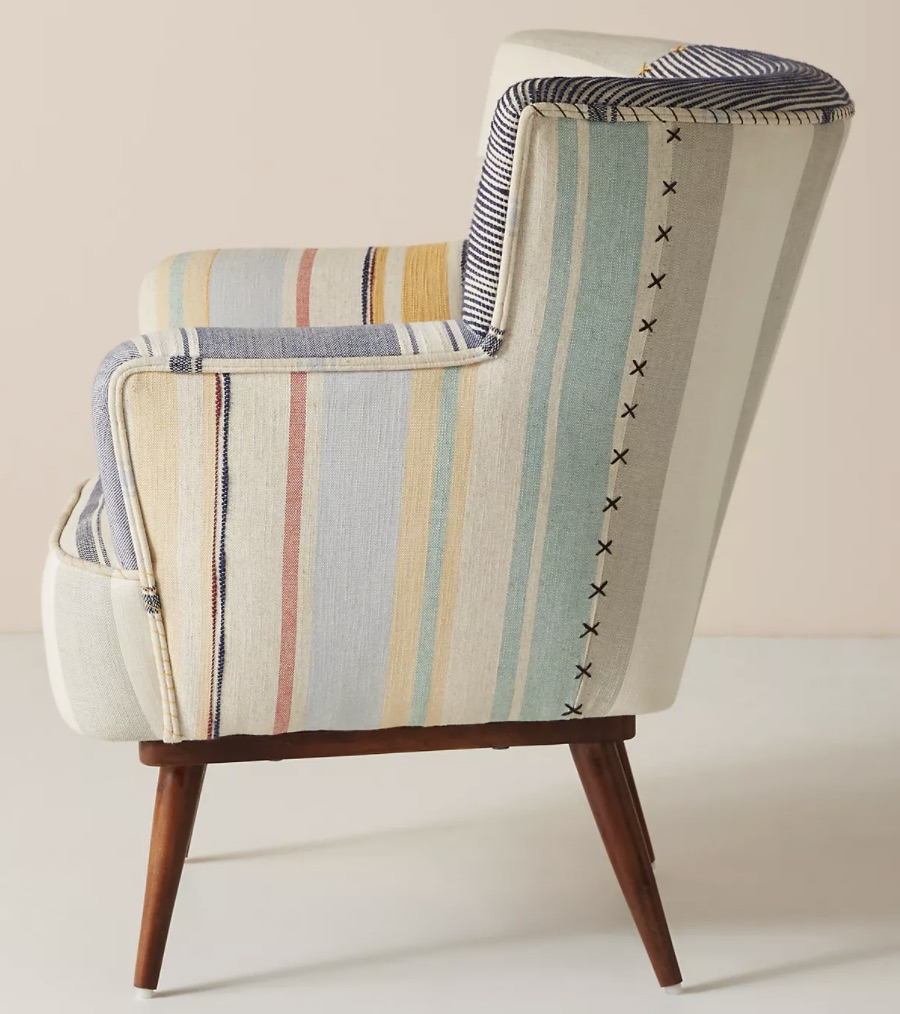 Striped Petite Accent Chair