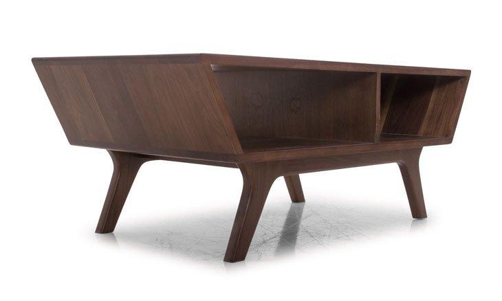 Wick Mid Century Modern Coffee Table - Walnut