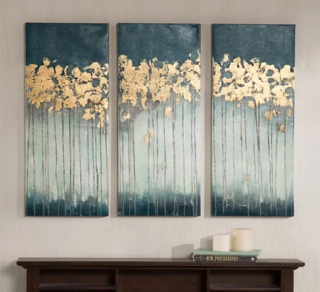 Midnight Forest - 3 Piece Wrapped Canvas Print Set