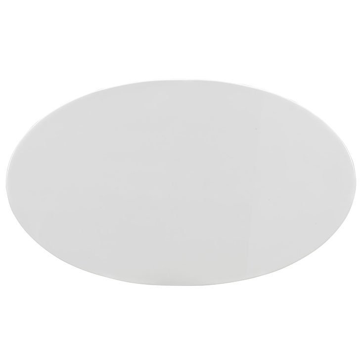 """Lippa 60"""" Oval Wood Top Dining Table in White"""