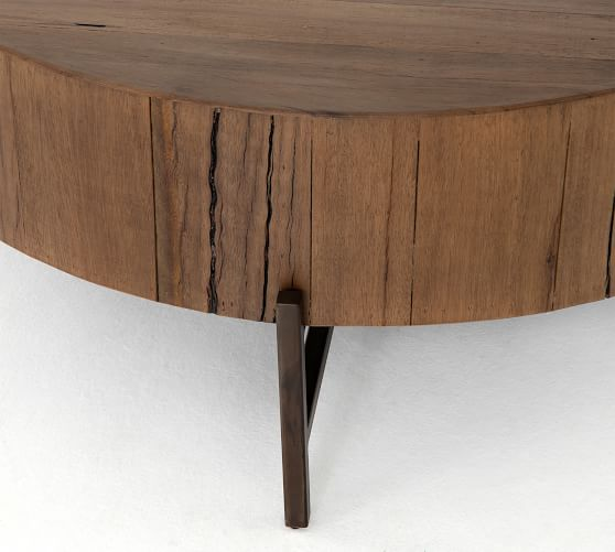 Fargo Round Coffee Table, Natural Brown