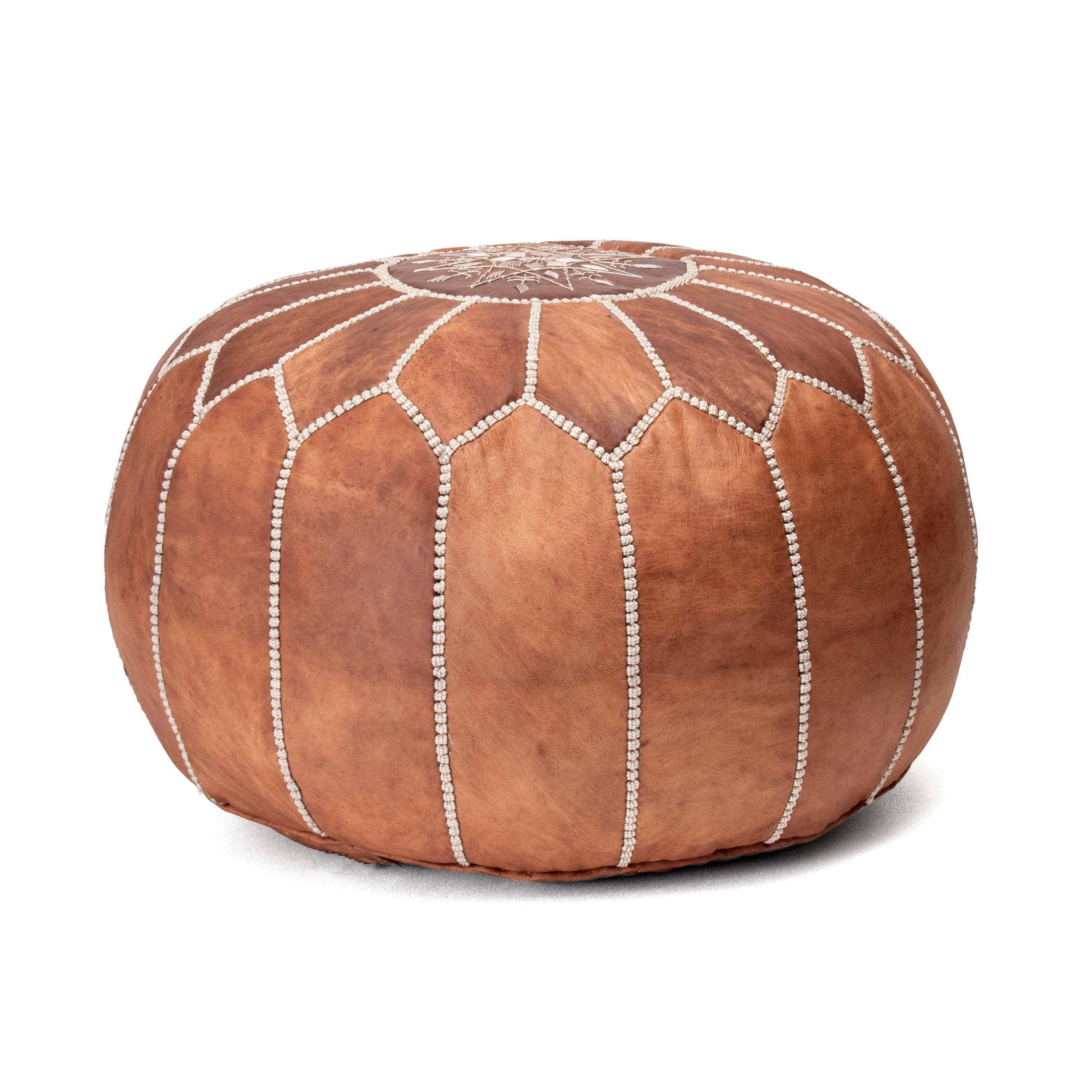 Samara Leather Pouf