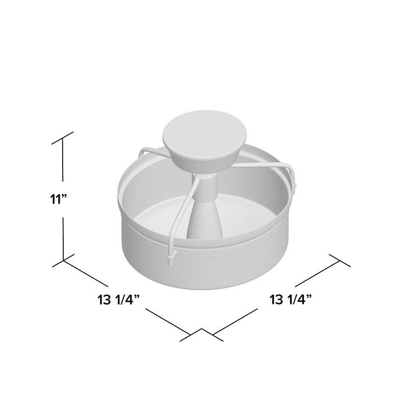 """Norton 1-Light 13.25"""" Simple Drum Semi Flush Mount"""