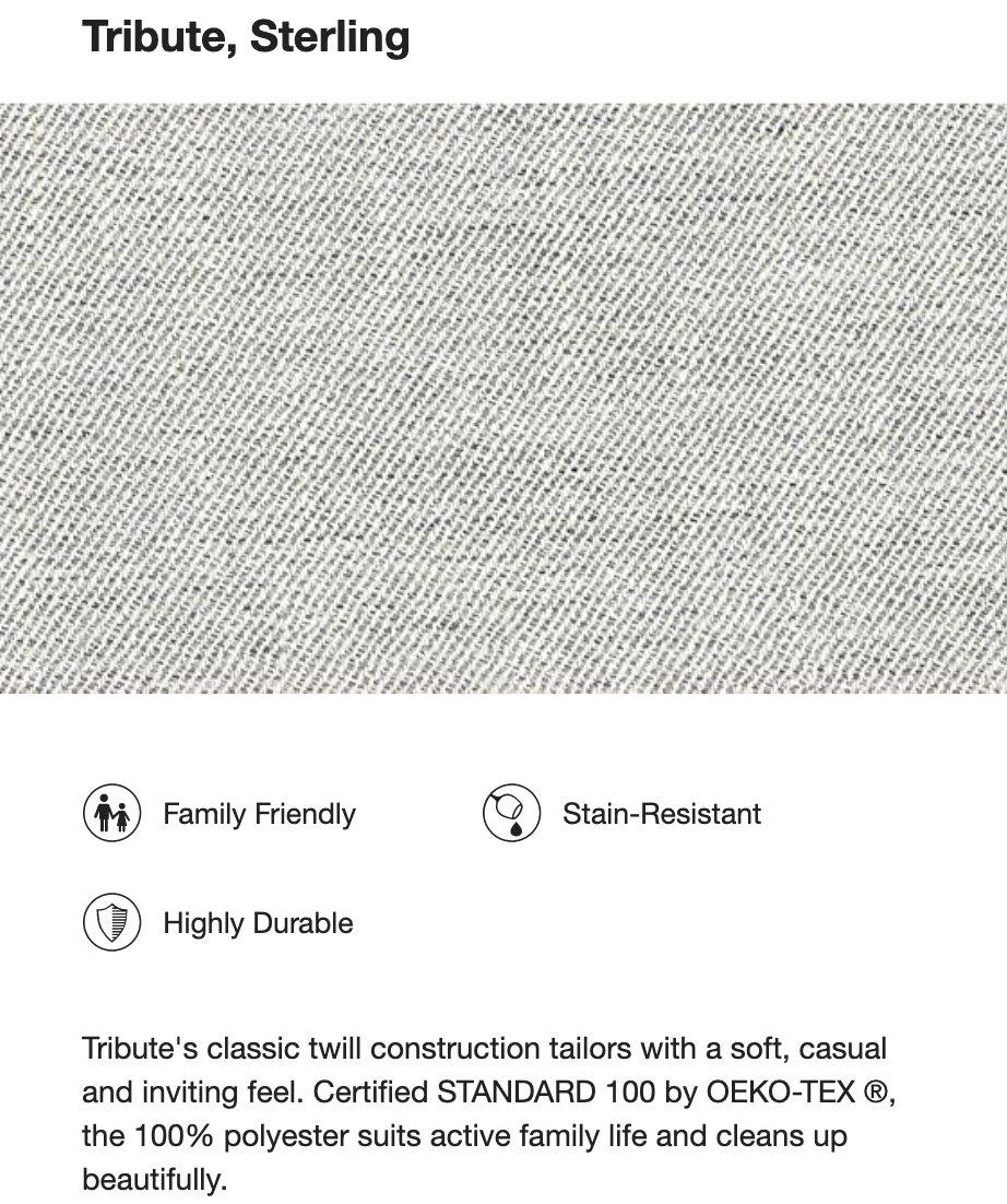 "Axis II 3-Seat Sofa / 88""W / Tribute Sterling"