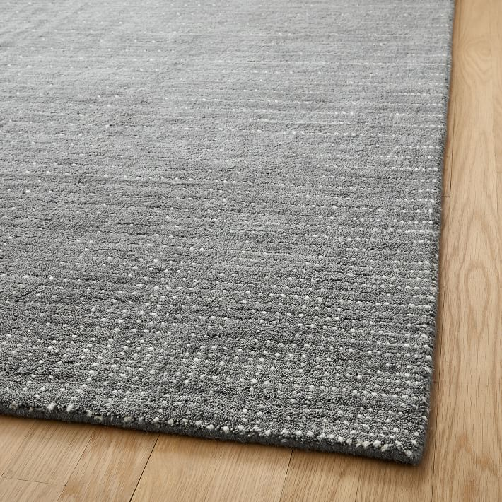 Graduated Dot Rug, Pewter, 8'x10'