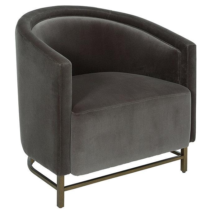 Lexie Chair Signature Velvet Slate  - Ballard Designs