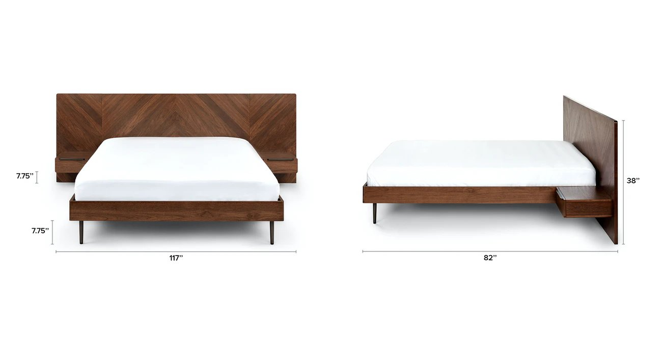 Nera King Bed with Nightstands