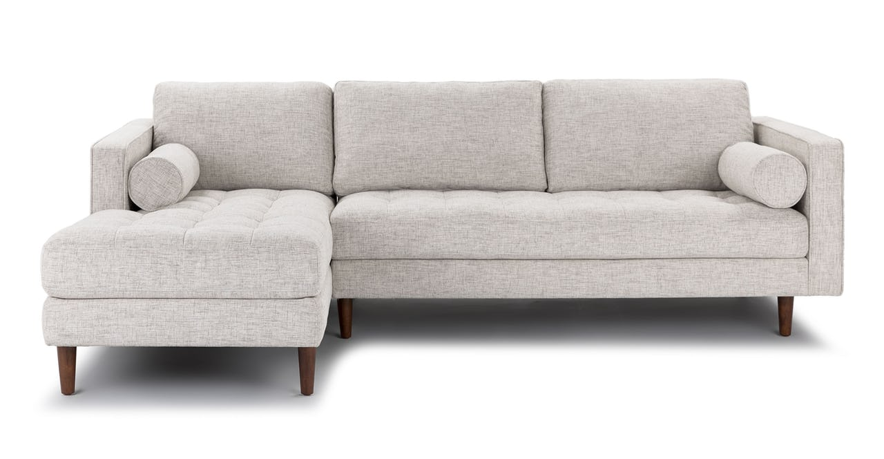 Sven left arm sectional - birch ivory