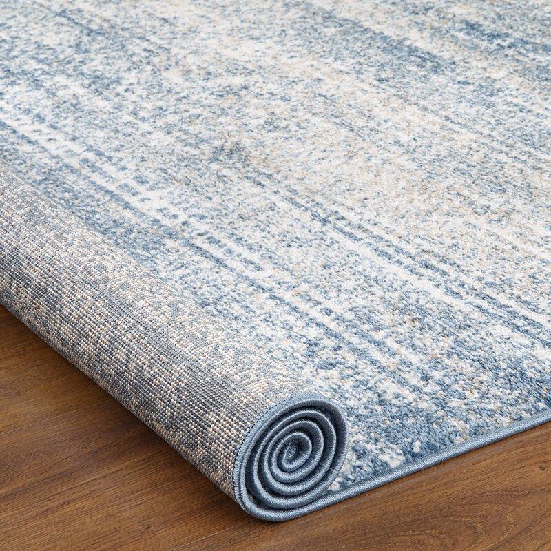 Belden Blue Abstract Area Rug