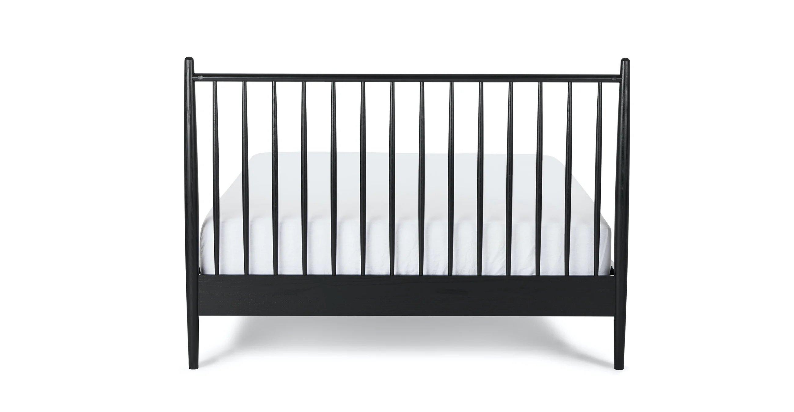 Lenia Black Ash Queen Bed