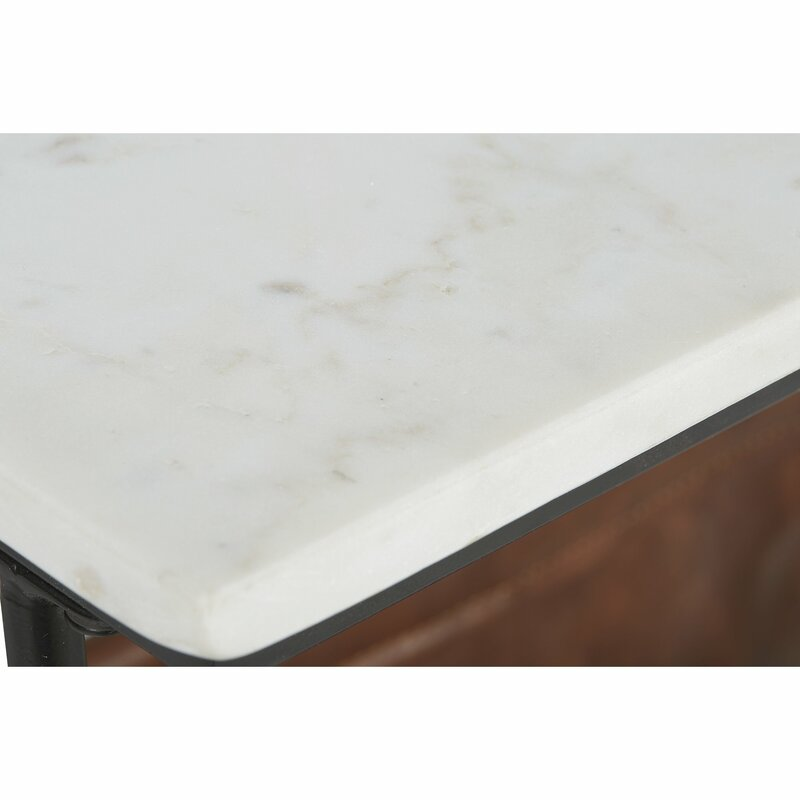 Tellis Marble Top End Table with Storage