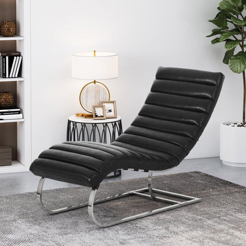 Laredo Channel Stitch Chaise Lounge
