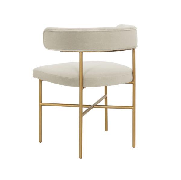 Rachel Performance Velvet Chair in Cream
