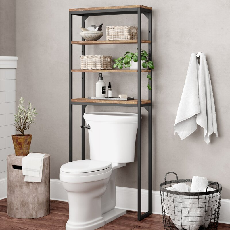 "Eckles 25"" W x 64"" H Over the Toilet Storage"