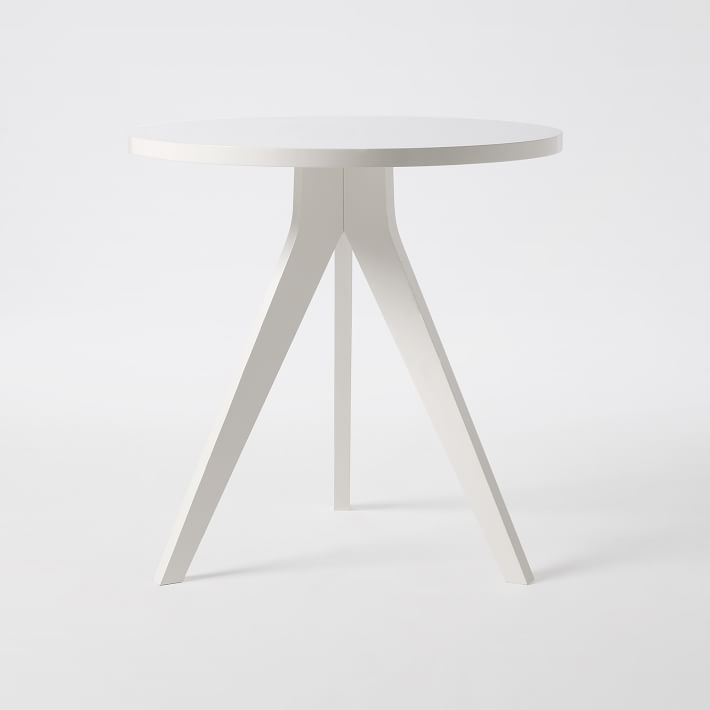 Tripod Dining Table - White Lacquer
